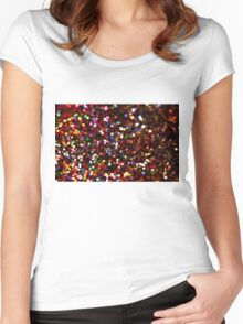 Glitter Women's Fitted Scoop T-Shirt