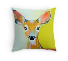 Colourful Deer - Wild Woodland Throw Pillow