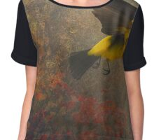 forest flight- western tanager Chiffon Top