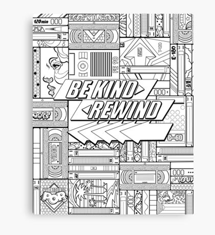 Be Kind Rewind - 80s Throwback, 1980s, 80s Canvas Print