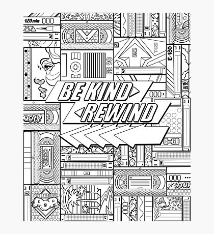 Be Kind Rewind - 80s Throwback, 1980s, 80s Photographic Print