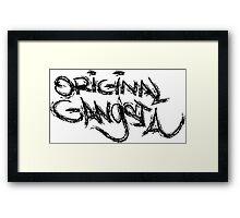 Original Gangsta Framed Print