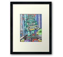 Retro Robot - Robots, Space Framed Print
