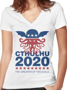 Vote Cthulhu 2020 Women's Fitted V-Neck T-Shirt