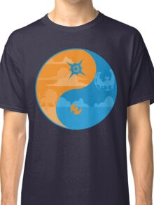 Sun and Moon Yin and Yang Color Classic T-Shirt