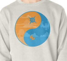 Sun and Moon Yin and Yang Color Pullover