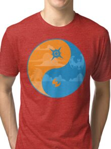 Sun and Moon Yin and Yang Color Tri-blend T-Shirt