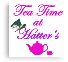 Tea Time at Hatter's Canvas Print