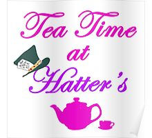 Tea Time at Hatter's Poster