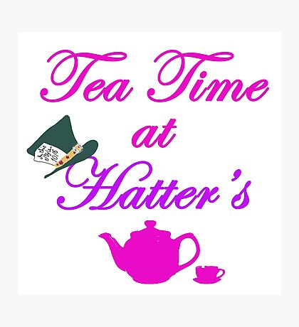Tea Time at Hatter's Photographic Print