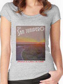 Black Mirror - San Junipero Women's Fitted Scoop T-Shirt