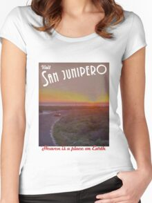 Black Mirror - San Junipero Women's Fitted Scoop T-Shirt