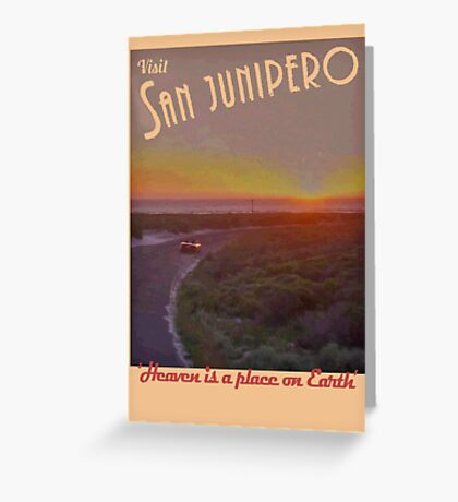 Black Mirror - San Junipero Greeting Card