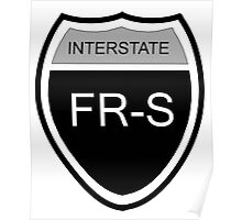 FR-S Interstate Blk Poster