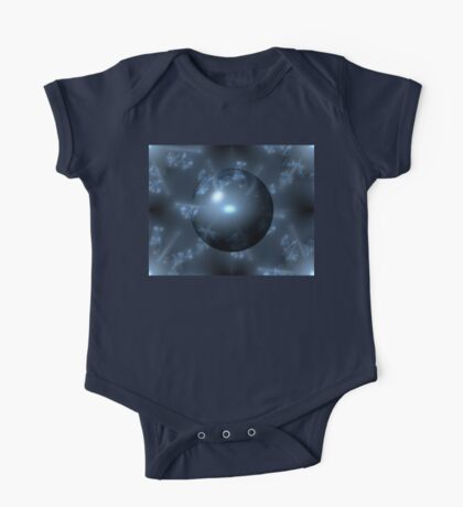 Abstract Blue Globe One Piece - Short Sleeve