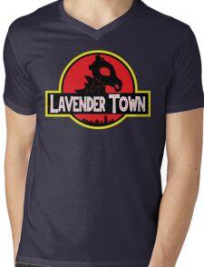 Lavender Town Mens V-Neck T-Shirt