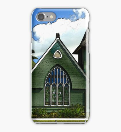 The Old Church In Hanalei iPhone Case/Skin