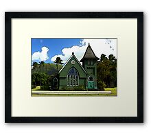 The Old Church In Hanalei Framed Print