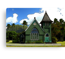 The Old Church In Hanalei Canvas Print