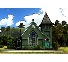 The Old Church In Hanalei Photographic Print