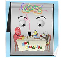 Don't Hug Me I'm Creative Poster