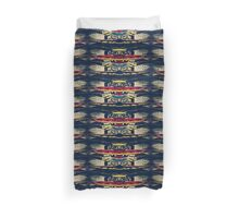 Good Luck Totem Pole, Abstract Duvet Cover