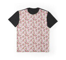 Christmas Daisy Flowers in Red and Green Graphic T-Shirt