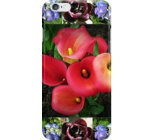 Bulbs and Blossoms Collage iPhone Case/Skin