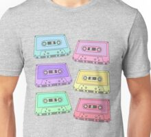 Pastel Cassette Tapes Pattern Unisex T-Shirt