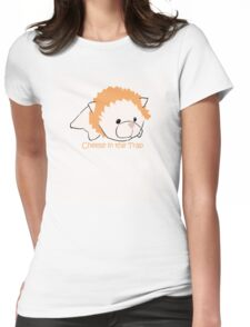 Cheese in the Trap Keychain Womens Fitted T-Shirt