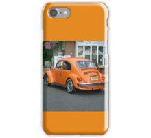 Classic VW Bug in Bright Orange iPhone Case/Skin
