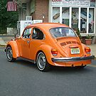Classic VW Bug in Bright Orange by Jane Neill-Hancock