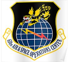 614th Air and Space Operations Center Poster