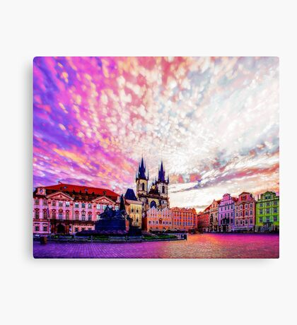Prague Old Town Square Abstraction Canvas Print