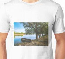 Boat on River Shore Unisex T-Shirt