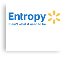 Entropy It Ain't What it Used to Be Canvas Print