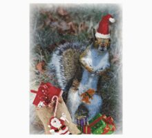 Christmas Squirrel One Piece - Short Sleeve