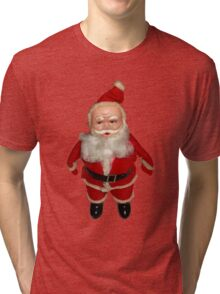 Creepy Vintage Santa Claus Tri-blend T-Shirt