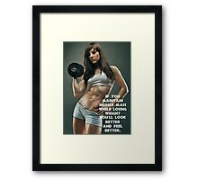 Maintain Muscle Mass While Losing Weight Framed Print
