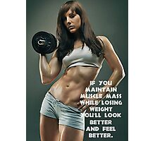 Maintain Muscle Mass While Losing Weight Photographic Print
