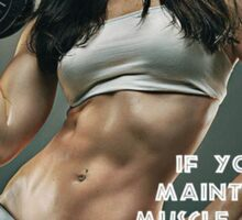 Maintain Muscle Mass While Losing Weight Sticker