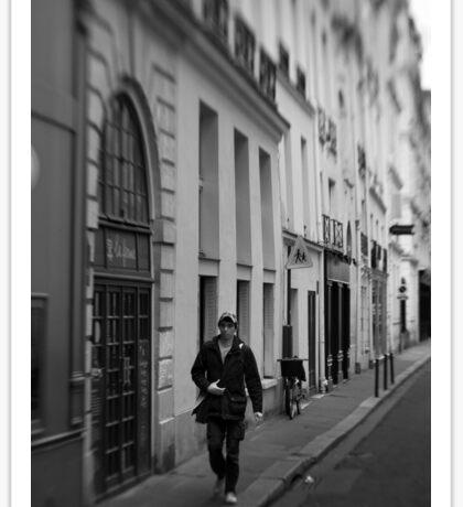 Parisian pedestrian - France Sticker