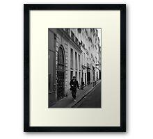Parisian pedestrian - France Framed Print