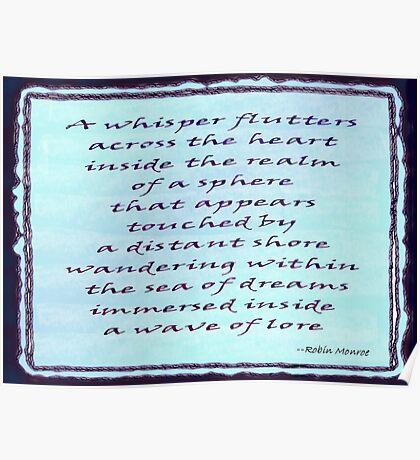 Sea of Dreams - Word Art Poster