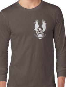 U.N.S.C. Insignia, 343i Redesign (White Logo) Long Sleeve T-Shirt