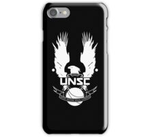U.N.S.C. Insignia, 343i Redesign (White Logo) iPhone Case/Skin