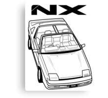 Nissan Pulsar NX Action Shot Canvas Print