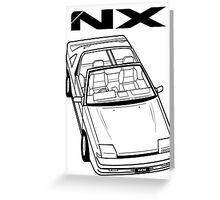 Nissan Pulsar NX Action Shot Greeting Card