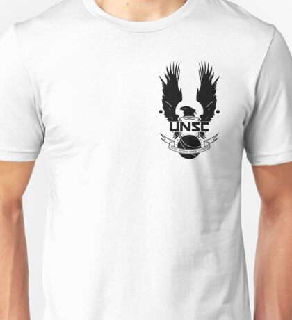 U.N.S.C. Insignia, 343i Redesign (Black Logo) Unisex T-Shirt