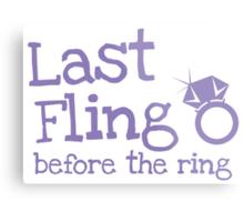 Last fling before the ring Metal Print